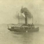 Photo: Collection Société d'histoire de Montmagny- Le vapeur «Alice» qui assure la liaison entre Québec et Grosse-Île.