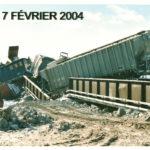 Déraillement de 2004, photo : Émile Gagné - Collection Société d'histoire de Montmagny