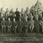 Officiers du régiment de Montmagny en 1940. Photo : Collection Centre d'histoire de Montmagny
