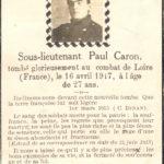 Sous-lieutenant magnymontois Paul Caron, combattant dans la Légion étrangère française et mort en 1917. Photo : Collection Centre d'histoire de Montmagny