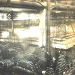 Fabrication de coquilles d'obus à Montmagny en 1917. Photo : Collection Centre d'histoire de Montmagny