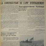 Le Courrier de Montmagny, 17 août 1940, page 1 Collection Centre d'histoire de Montmagny