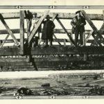 Construction du manège militaire, sur les terrains du camp militaire de Montmagny. Photo : Collection Centre d'histoire de Montmagny