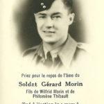 Le soldat Gérard Morin, 23 ans, mort le 9 mars 1945, à Hanten, Allemagne. Photo : Collection Centre d'histoire de Montmagny
