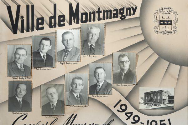 Le conseil municipal de 1949 à 1951. Maire: Louis-O. Roy. Conseillers: Jean-Marie Corneau,  Patrice Corriveau, Léopold Gagné, Wilbrod Landry, Wilfrid Leblanc, Paul Lemieux, Hervé Vézina. Greffier: René Côté.