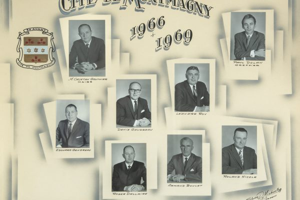 Le conseil municipal de 1966 à 1969. Maire: Cajetan Gauthier. Conseillers:  Edouard Gendreau, Denis Gaudreau, Léandre Roy, Roger Dallaire, Armand Boulet, Roland Nicole. Greffier: Paul Dolan.