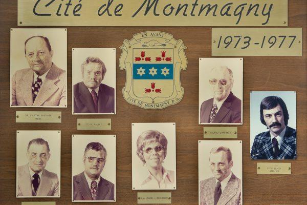 Le conseil municipal de 1973 à 1977. Maire: Cajetan Gauthier. Conseillers: Jeanne L. Boulanger, Paul-Henri Vallée, Réal Montminy, Marcellin Guillemette, Roland Simoneau, Lucien Bossé. Greffier: Yvon Lemay.